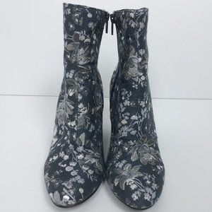 Merona Blue & Silver Tapestry Like Boots